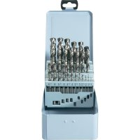 25-dílná sada spirálových vrtáku HSS-G DIN 338 RN