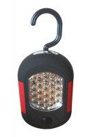 Svítilna montážní LED lampa (24 + 3 LED) červenočerná WL72