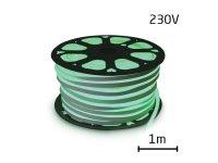 LED neon flexi hadice 230V 92LED/m 7W/m zelená (1m)