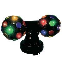 RGB LED disko koule, 71.109, 2 x Ø 18,5 cm