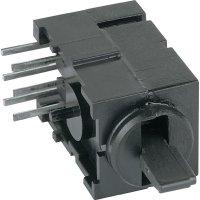 FEL páčkový přepínač THT Mentor 1847,3032, 60 V AC/DC, 0,5 A, černá