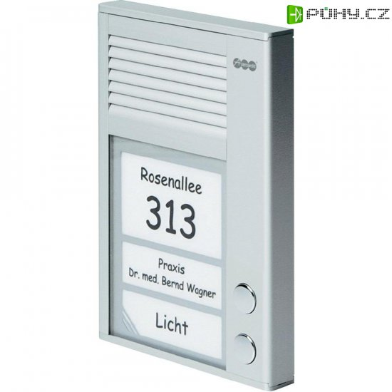 Domácí telefon Auerswald TFS-Dialog 202, 90635, 2 rodiny, stříbrná - Kliknutím na obrázek zavřete