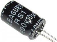 10u/400V 85°C 10x17x5mm, elektrolyt.kondenzátor radiální