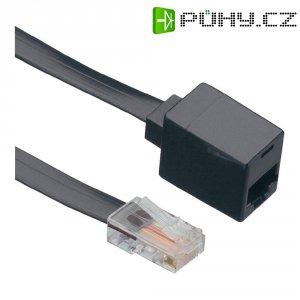 ISDN prodlužovací kabel Wentronic, 1x zástrčka RJ45, 1x zásuvka RJ45, 4žilový, 6 m, černá