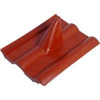 Střešní taška s průchodem na stožár červená A.S. SAT 42801, Ø max. 60 mm, cihlově červená