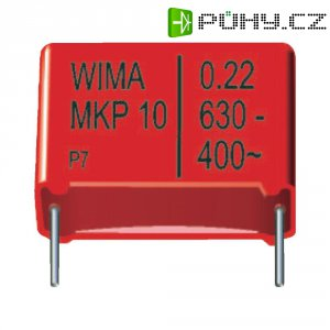 Fóliový kondenzátor MKP Wima MKP10, 27,5 mm, 0,33 µF, 1000 V, 10 %, 31,5 x 15 x 26 m