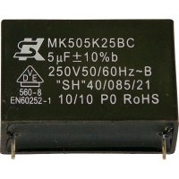 Foliový kondenzátor MKP MK450K224, 0,22 µF, 450 V, 10 %, 26,5 x 8,5 x 17 mm