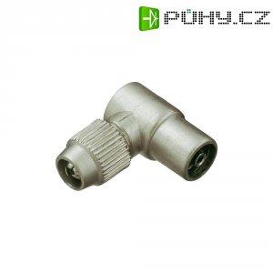 Spojka koaxiálního kabelu, 410326, 5 - 7 mm, litá, úhlová