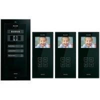 Domácí videotelefon Bellcome, 3 rodiny, černá