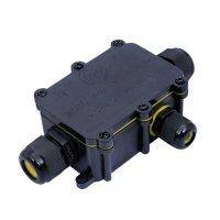 Spojka kabelová vodotěsná mini,IP68, 1x vstup, 2x výstup, SOLIGHT WW004
