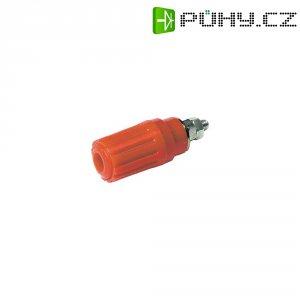 Pólová svorka SKS Hirschmann PKI 100 (930757101), (Ø x d) 15 x 41,5 mm, červená