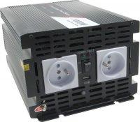 Měnič+UPS+nabíječ 12V/230V/1000W, čistá sinus. JYINS JYPU-1000W