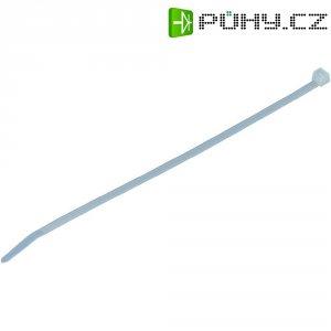 Stahovací pásky HellermannTyton UB8-PA66-NA-M1, 200 x 4,6 mm, 1000 ks, transparentní