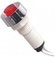 Kontrolka 230V s doutnavkou, červená do otvoru 10mm, vývody