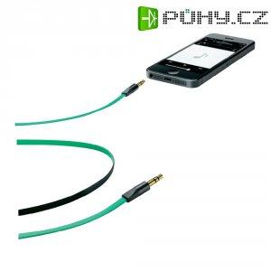 Připojovací kabel CellularLine, jack zástr. 3.5 mm/ jack zástr. 3.5 mm, zelený, 1 m