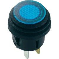 Tlačítkový spínač SCI R13-527D2B, 14 V/DC, 20 A, černá, 1 ks