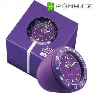 Analogové stolní hodiny Lolliclock, 44 x 44 x 47 cm, fialová