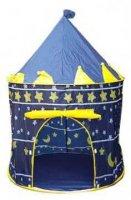 Dětský stan pro děti, zámek - modrý