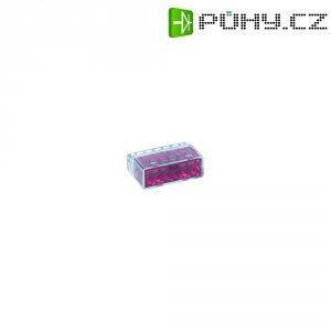 Svorka HellermannTyton, 148-90004, 0,5 - 2,5 mm², 6pólová, fialová