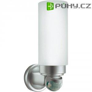 Venkovní LED nástěnné svítidlo GEV018334 s PIR čidlem, E27, stříbrná/šedá