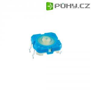 Tlačítko s pájecími kontakty Rafi, 114001501, 42 V DC/AC, 0,1 A, vyp./(zap.), modrá