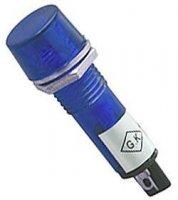 Kontrolka LED 12V, modrá do otvoru 10mm