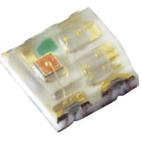 SMD LED Kingbright, KPTF-1616RGBC-13, 20 mA, 2,2 V, 120 °, 360 mcd, červená/zelená/modrá