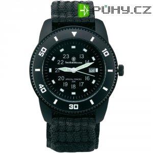 Ručičkové náramkové hodinky S&W Commando, 76038, nylonový pásek, černá