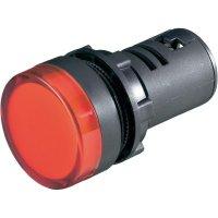 Blikající LED signálka, 22 x 64 mm, 24 V, červená