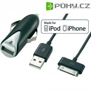 USB nabíječka do auta Voltcraft CPS-1000i + Apple kabel