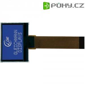 LCD displej Gleichmann, GE-O12864C2-TMI/R, 6,5 mm, bílá/modrá