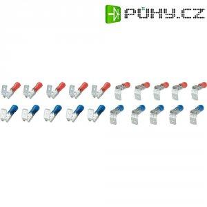 Sada fastonů, 6,3 mm, 0,25 - 2,5 mm², modrá/červená, 20 ks