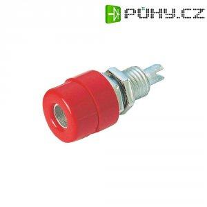 Laboratorní konektor Ø 4 mm SKS Hirschmann BIL 20 (930176101), zás. vest. vert., červená