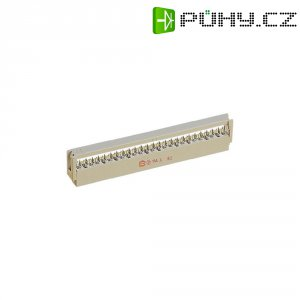 Pinová lišta Harting, 09 18 514 6813, IEC 60 603-13, zástrčková, 14pólová, úhlová