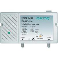 Zesilovač satelitního signálu Axing, SVS 1-00, 18 - 21/20 - 25 dB, 47 - 862/950 - 2200 MHz