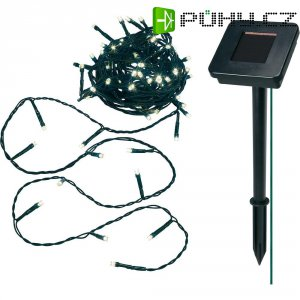 Solární světelný řetěz, 24 LED, 7,6 m, teplá bílá