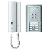 Domácí telefon Ritto Schneider, 1841420, 4 rodiny, stříbrná