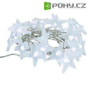 Vnitřní vánoční řetěz s hvězdami, 20 LED, 4,3 m, teplá bílá