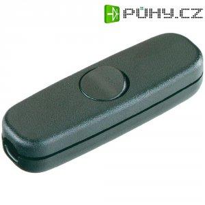 Šňůrový vypínač interBär , 1pólový, 250 V/AC, 3 A, černá