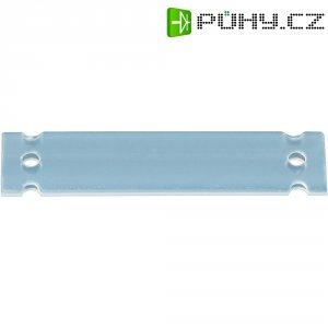 Evidenční štítek HellermannTyton HC06-17-PE-CL, 17,5 x 7 mm, transparentní