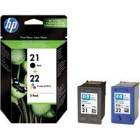 Cartridge do tiskárny HP, SD367AE, HP 21, 22, černá, cyanová, magenta, žlutá