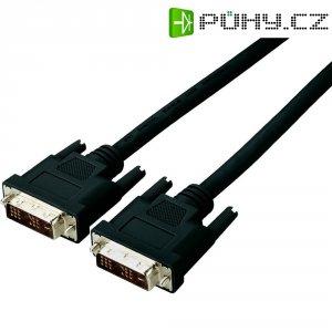 Kabel DVI vidlice ⇔ vidlice, 18+1 pin, 5 m, černý