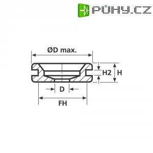 Průchodka HellermannTyton HV1402-PVC-BK-M1, 633-04020, 7,0 x 2,0 mm, černá