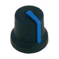 Otočný knoflík Cliff CL170846CR, pro sérii K87MBR, 6 mm, s drážkováním, černá