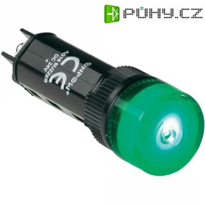 Sirénka / kontrolka, 80 dB 24 V / DC, 16 mm, zelená