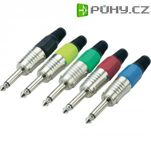 Sada kabelových konektorů jack (M) 6,3 mm, 5 ks