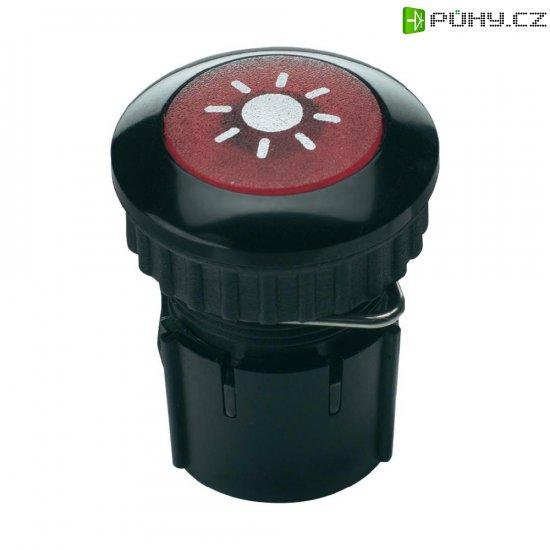 Zvonkové tlačítko podsvícené Grothe Protact 63032, max. 24V/1,5 A, černá - Kliknutím na obrázek zavřete