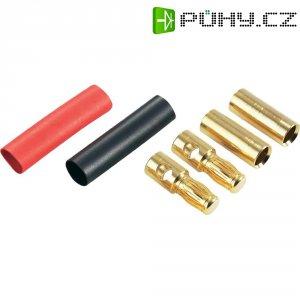 Banánkový konektor zástrčka, rovná, zásuvka, rovná Ø pin: 5.3 mm červená, černá Schnepp DS 5,3 1 ks
