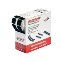 Suchý zip samolepící v boxu Fastech, 20 x 20 mm, černá, 5m