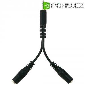 Audio kabel Belkin-adaptér, 1x jack 3,5 mm ⇒ 2x zásuvka jack 3,5 mm, černá, 0,1 m